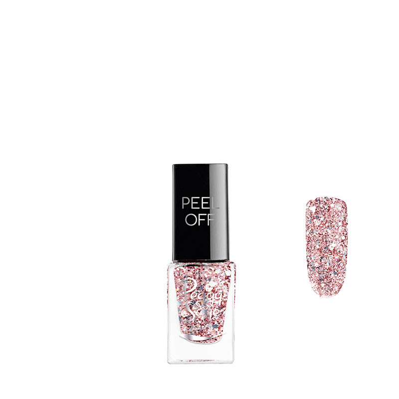 Peggy Sage Vernis à ongles Peel off Rose glitter 5ml 5ML, Vernis à ongles couleur