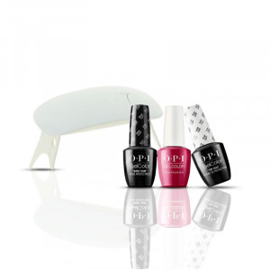 OPI Kit manucure vernis semi-permanent + Mini lampe UV 6W 45ML, Vernis à ongles