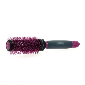 Coiffeo Brosse de brushing anti-statique 44mm Noir & Rose, Brosse brushing