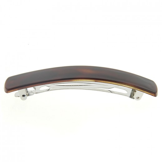 Barrette 9cm injection decor demi blond vernis