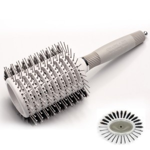 Olivia Garden Brosse ronde céramique+ion Twin oval taille L, Brosse brushing