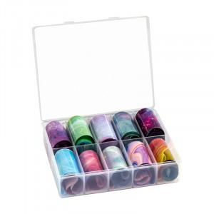 Peggy Sage Lot de transfer foil pour ongles X10, Sticker décoratif