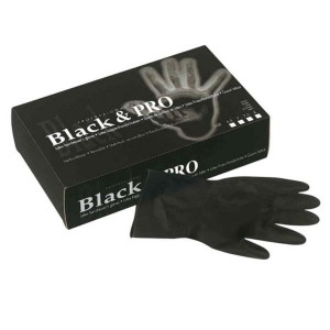 Gants latex satin taille XL x20 Noir