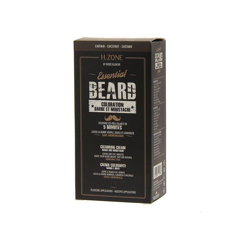 H.Zone professional Teinture barbe et moustache Kit Châtain 60ML, Teinture barbe