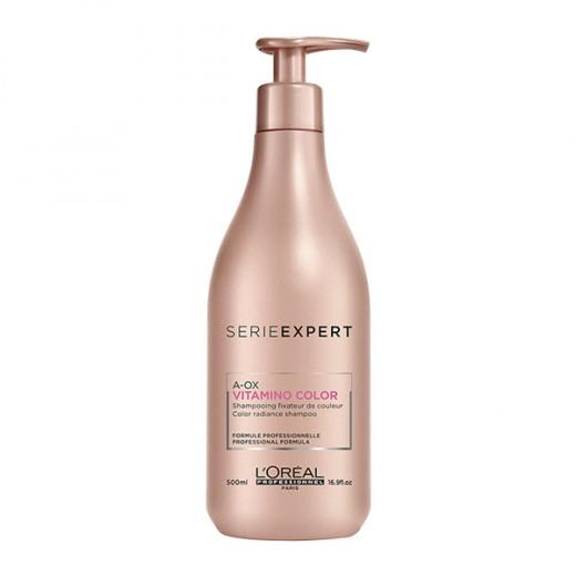 L'Oréal Professionnel Shampooing éclat couleur Vitamino Color A-OX 500ML, Cosmétique