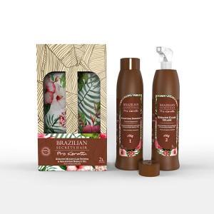 Brazilian Secrets Hair Kit lissage brésilien Pro Keratin 2000ML, Kit lissage brésilien