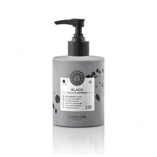 Maria Nila Masque repigmentant Colour Refresh 2.00 Black 300ML, Après-shampoing repigmentant