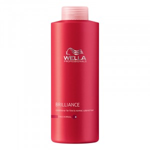 Wella Après-shampooing cheveux colorés fins Brilliance 1000ML, Après-shampoing avec rinçage