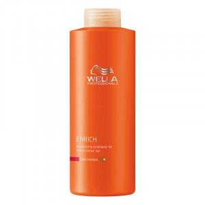 Wella Après-shampooing hydratant cheveux fins Enrich 1000ML, Après-shampoing avec rinçage