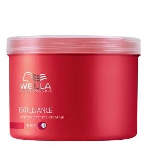 Wella Masque cheveux colorés épais Brilliance 500ML, Masque cheveux