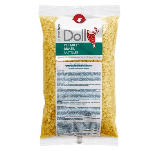 Doll Cire gouttelette pelable Jaune 1kg, Cire gouttelette