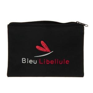 Bleu Libellule Pochette sequins Noir & Rouge, Trousse maquillage