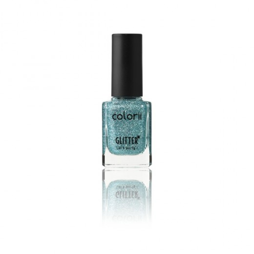 Vernis à ongles pailleté bleu colorii 11ml