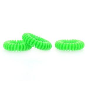 Hair ring vert fluo x3